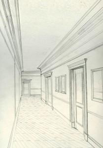 Skech pencil Maria Barkovskaya