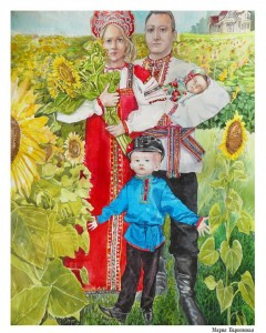 familyportrait Maria Barkovskaya